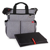 Skip Hop Heather Grey Duo Diaper Bag & Changing Mat