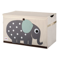 3 Sprouts Toy Chest Storage : Grey Elephant