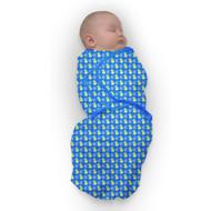 Baby Studio Baby Swaddlewrap Blue Fruits