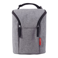 Skip Hop Grab & Go Double Bottle Bag - Heather Grey