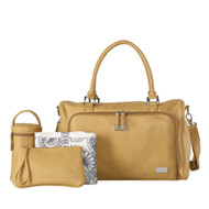 Isoki Double Zip Satchel Nappy Bag - Sorrento (Camel)