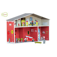 Dylan Eco Cardboard Fire Station Play Set