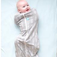 ergopouch ergoCocoon Swaddle & Sleep Bag (1 tog) - Grey Fern