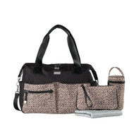 Isoki Pocket Nappy Bag - Tan/Black (San Remo)
