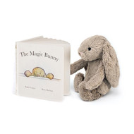 Jellycat The Magic Bunny Book + Bashful Beige Bunny Gift Set