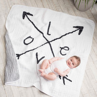 aden + anais muslin classic dream blanket - lovestruck