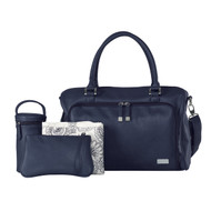 Isoki Double Zip Satchel Nappy Bag - Navy (Limited Edition)