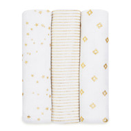 aden + anais 3 Pack Classic Swaddles - Metallic Gold