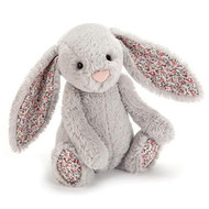 Jellycat Medium Bashful Bunny - Blossom Silver Plush Toy Online