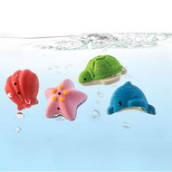 PlanToys Eco Wooden Sea Life Bath Toys