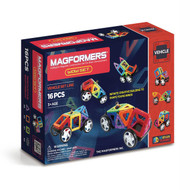 Magformers WOW Car/Wheel Magnetic Construction Set (16 Piece)