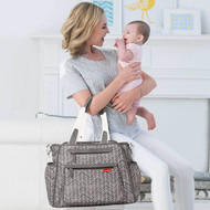 Skip Hop Grand Central Take-it-all Diaper Bag - Grey Feathers