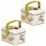 Belle & Boo Oval Easter Carry Tins - Set of 2