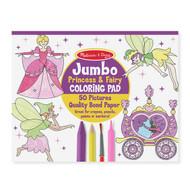 Melissa & Doug Jumbo Colouring Pad - Princess& Fairy