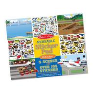 Melissa & Doug Vehicles Reusable Sticker Book