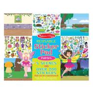 Melissa & Doug Reusable Sticker Book - Fairies