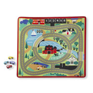 Melissa & Doug Play Rug & Vehicle - Town Road
