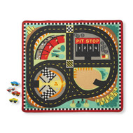 Melissa & Doug Play Rug + 4 Cars - Speedway Race Track