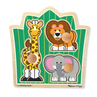 Melissa & Doug 3 Piece Knob Puzzle - Jungle