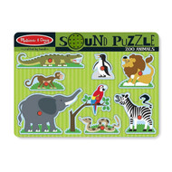 Melissa & Doug Wooden Sound Puzzle - Zoo Animals