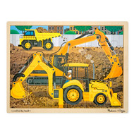 Melissa & Doug Wooden Puzzle & Tray - Diggers at Work