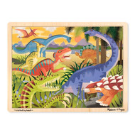 Melissa & Doug Wooden 24 Piece Puzzle & Tray - Dinosaurs
