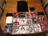 SONY PS3 80gb +16 GAMES, 2 CONTROLLERS (MODEL CECHL01) Playstation 3 plus MORE!