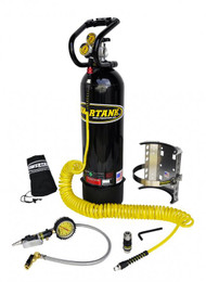 CO2 Tank 15 LB Power Tank Package B 250 PSI Gloss Black Power Tank