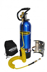 CO2 Tank 15 LB Power Tank Package A 250 PSI Candy Blue Power Tank
