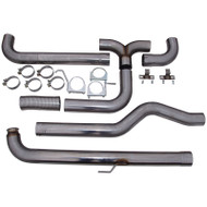 "2001-2007 GM 6.6L DURAMAX MBRP 4"" XP SERIES DOWNPIPE-BACK DUAL EXHAUST STACK SYSTEM S8000409"