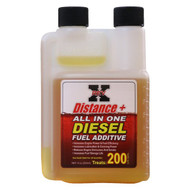 FOR ALL DIESEL ENGINES / REV-X DIS0801 DISTANCE + FUEL ADDITIVE (8-OZ. BOTTLE)