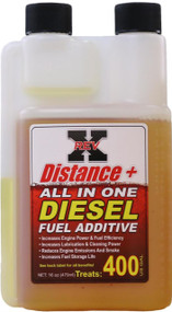 FOR ALL DIESEL ENGINES / REV-X DIS1601 DISTANCE + FUEL ADDITIVE (16-OZ. BOTTLE)