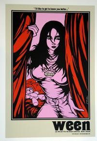 WEEN - JERMAINE ROGERS - DENVER FILLMORE - SHOW ARTIST PROOF #14/26