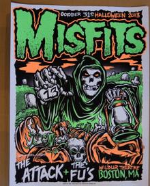 THE MISFITS - THE ATTACK - BOSTON - WILBUR THEATRE  - 2013 - TOUR POSTER -