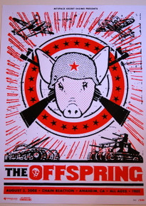 THE OFFSPRING - RISE AND FALL - CHAIN REACTION - MYSPACE SECRET SHOW POSTER