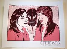 THE DEFTONES- TERMINAL 5 - NEW YORK CITY  - 2013 - JERMAINE ROGERS -TOUR POSTER