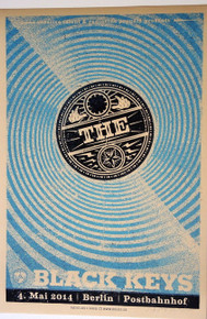 THE BLACK KEYS - TURN BLUE - BERLIN - 2014 - BLUE EDITION POSTER - LARS KRAUSE