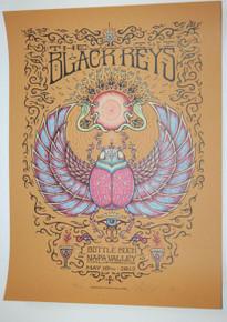 THE BLACK KEYS - MARQ SPUSTA - BOTTLE ROCK - 2013 - NAPA VALLEY- TOUR POSTER -