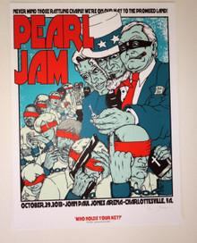 PEARL JAM - CHARLOTTESVILLE - VEDDER - 2013 - JERMAINE ROGERS - TOUR POSTER