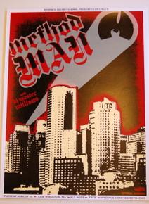 METHOD MAN W/ DJ MASTER MILLIONS - AXIS - 2006 - MYSPACE SECRET SHOW POSTER