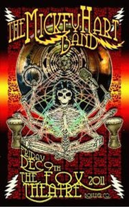 MICKEY HART BAND - FOX THEATER - 2011- BOULDER - GRATEFUL DEAD - TOUR POSTER -