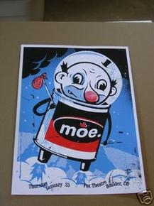 MOE. - MOE - WORMWOOD  - LIMITED S/N - POSTER -VOLLMAR