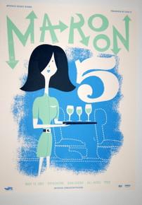 MAROON 5 - 2007 - ADAM LEVINE - THE VOICE - MYSPACE SECRET SHOW CONCERT POSTER