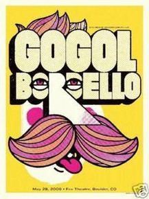 GOGOL BORDELLO - 2009 - BOULDER - POSTER - VOLLMAR