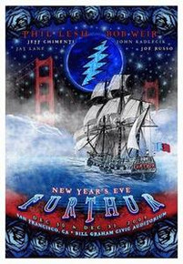 FURTHUR - NEW YEARS EVE 2009 - SAN FRANCISCO - WEIR - LESH - RARE - TOUR POSTER