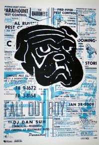 FALL OUT BOY - BLUE VARIANT - 2009 - MYSPACE SECRET SHOW CONCERT POSTER