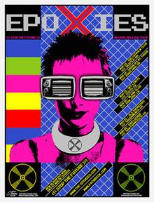 EPOXIES - STOP THE FUTURE - SEATTLE - FRISCO  - 2005 - TOUR POSTER - STAINBOY