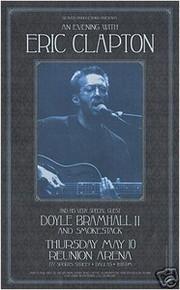 ERIC CLAPTON - DOYLE BRAMHALL - DALLAS 2001 -POSTER -