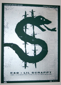 E40 & LIL SCRAPPY - UNIVERSITY THEATER - 2007 - MYSPACE SECRET SHOW POSTER