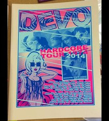 DEVO - HARDCORE TOUR 2014 - POSTER - LINDSEY KUHN - BOB CASALE - NEW YORK -